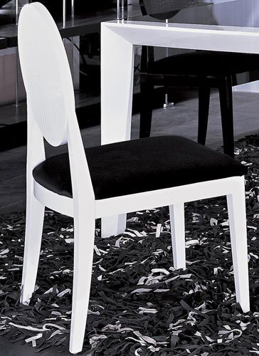 AA018 White Crocodile Textured Lacquer Dining Chair Set of Two