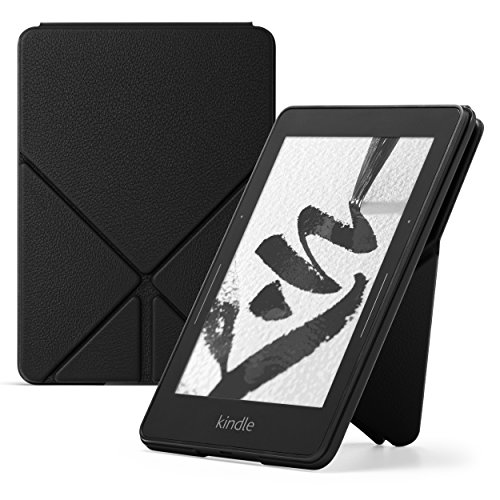 Price comparison product image Amazon Kindle Voyage Leather Origami Case,  Black