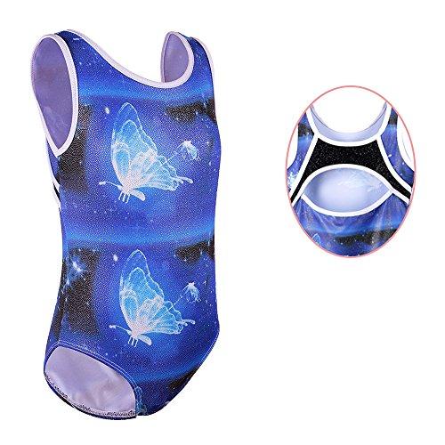 UPC 606825585519, Toddler Sparkle Printing Dance Athletic Unitards Tank Sleeveless Leotard for Girls Gymnastics B136_Blue_6A