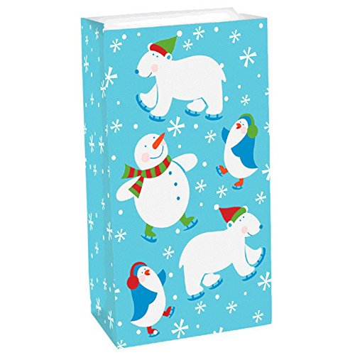 Frosty Friends Treat Bags Value Pack 12 Paper Sacks ()