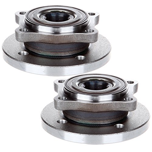 ECCPP Pair of 2 New Complete Front Wheel Hub Bearing Assembly 4 Lugs w/ABS for 2002-2009 Mini Cooper Compatible with -