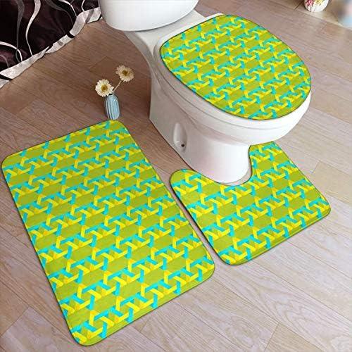 トイレマット 六芒星 ダビデの星 知恵の六角形 エネルギーの調和 浴室足ふきマット 3点セット タンクカバー 滑り止め 耐摩耗 吸水 洗える