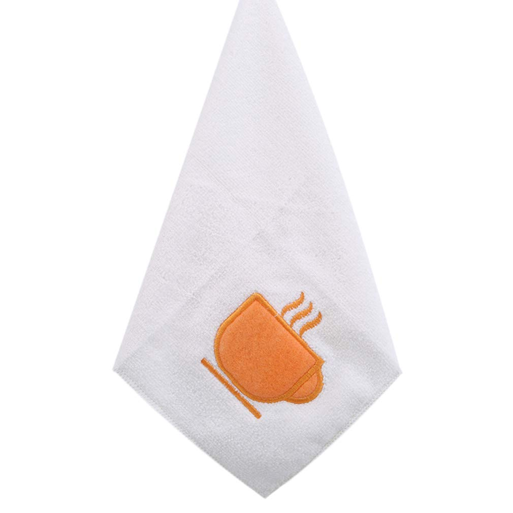 YESMAEA Cartoon Hanging Hand Towels Absorbent Hand Dry Towel Lovely Towel For Kitchen Bathroom Use,white