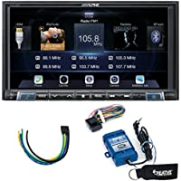 Alpine iLX-207 Apple Car Play & Android Auto Receiver With Steering Wheel Control Interface & Trigger Module