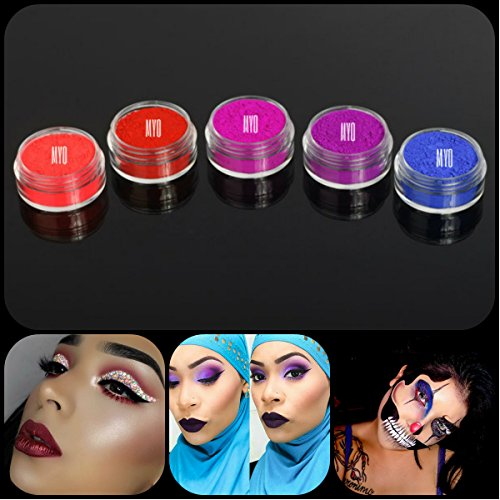 [New Eyeshadow Pigment Ultra Bright Matte Myo Set Mica Cosmetic Mineral Makeup 3 Gram Size (Prep eyelids with a base primer before applying] (Lipstick Halloween Costumes)