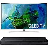 Samsung QN55Q8C Curved 55-Inch 4K Ultra HD Smart QLED TV w/ Samsung 3D Wi-Fi 4K Ultra HD Blu-ray Disc Player