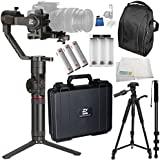 Zhiyun-Tech Crane-2 3-Axis Stabilizer with Follow Focus for Select Canon DSLRs 10PC Accessory Bundle – Includes Manufacturer Accessories + Deluxe Backpack + MORE