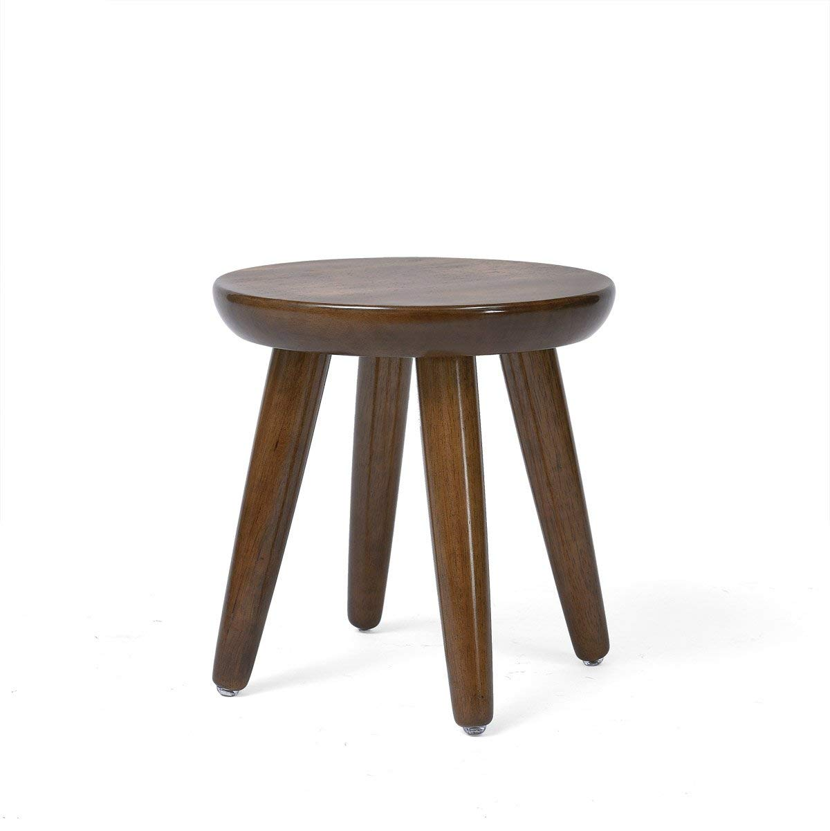 1  A EU90 Solid Wood Stool Creative Round Stool Small Round Table Stool Stool Fashion Stool Stool Stool Stool Home Small Stool -Comfortable decoration (color   2 , Size   B)