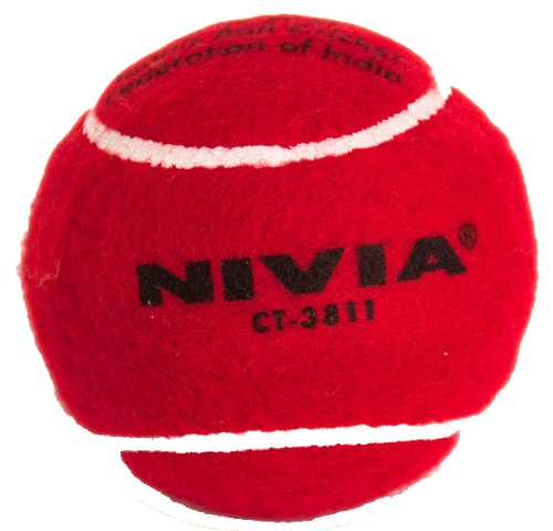 Cricket Tennis Balls (Red Balls Pack of 12) by Nivia