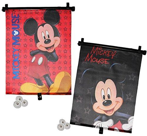 2 tlg Set: Sonnenschutz Rollo - Mickey Mouse - für Fenster und Auto Seitenscheibe - Sonnenblende - Jungen Mädchen Kinder Baby - Sonnenrollo - Playhouse - Rollos / Fensterblende - Sonnenschutzrollo