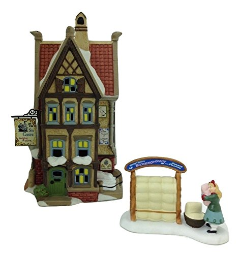 Department 56 Dickens Village Twelfth Night The Six Geese Bedding & Down Lighted Building and The Perfect Pillow Accessory by Department 56