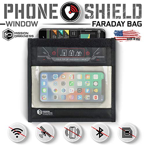 Mission Darkness Window Faraday Bag for Phones - Device Shielding for Law Enforcement, Military, Executive Privacy, Travel & Data Security, Anti-Hacking & Anti-Tracking Assurance