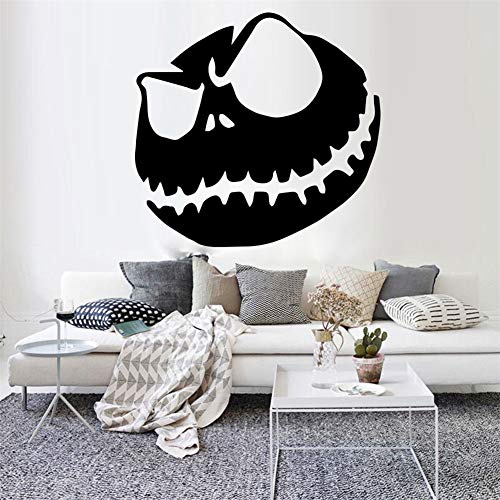 Wall Art Decal Sticker Words Wall Saying Words Removable Mural Jack Skellington Bedroom Living Room Halloween Pumpkin King Kitchen Window ()
