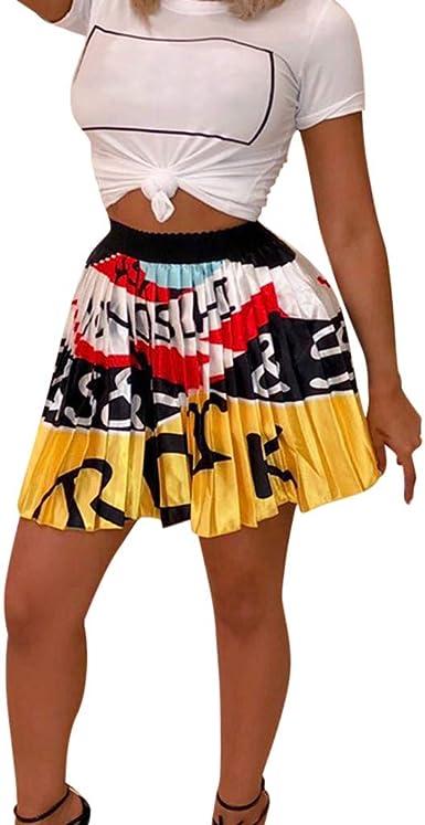 VECDY Vestidos Verano Mujer Largos, Sexy Faldas Plisadas De ...