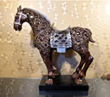 WWQY American classical furniture creative Home Furnishing horse hollow resin craft ornaments business gifts 58 22 ??59