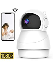 1080P Wireless Security IP Camera WiFi 2.4G Surveillance IP Camera for Pet Baby home Monitor, 3D Navigation Panorama View,Pan/Tilt, Two-Way Audio Night Vision Motion Detection Local&Cloud Storage (EC50)