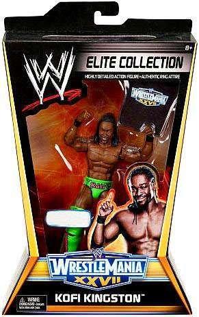Mattel WWE Wrestling Exclusive Elite Collection Wrestle Mania XXVII Action Figure Kofi Kingston
