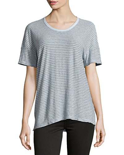 James Perse Striped Cotton-Blend Jersey Tee (Green/Gray, ()