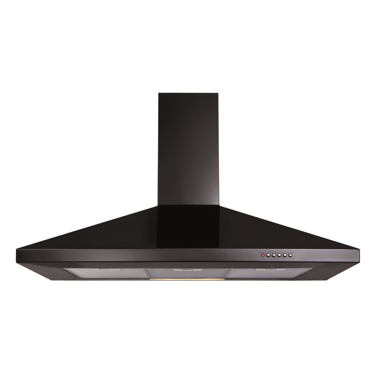 CDA ECH101BL Level 1 100cm Wide Chimney Cooker Hood Black [Energy Class E]