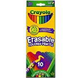Crayola 071662044107 68-4410 Erasable Colored Pencils 10 Count