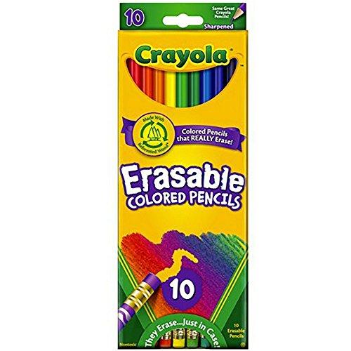 Crayola 071662044107 68-4410 Erasable Colored Pencils 10 -