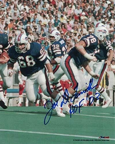 O.J. Simpson Signed Photo - Joe Delamielleure 8x10 Oj 11032 - Autographed NFL ()