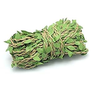 Yotako 10m Silk Greenery Garland Faux Foliage Fake Leaves Hanging Vines Garland Artificial Plants for DIY Wreath Wedding Craft Home Decor 2