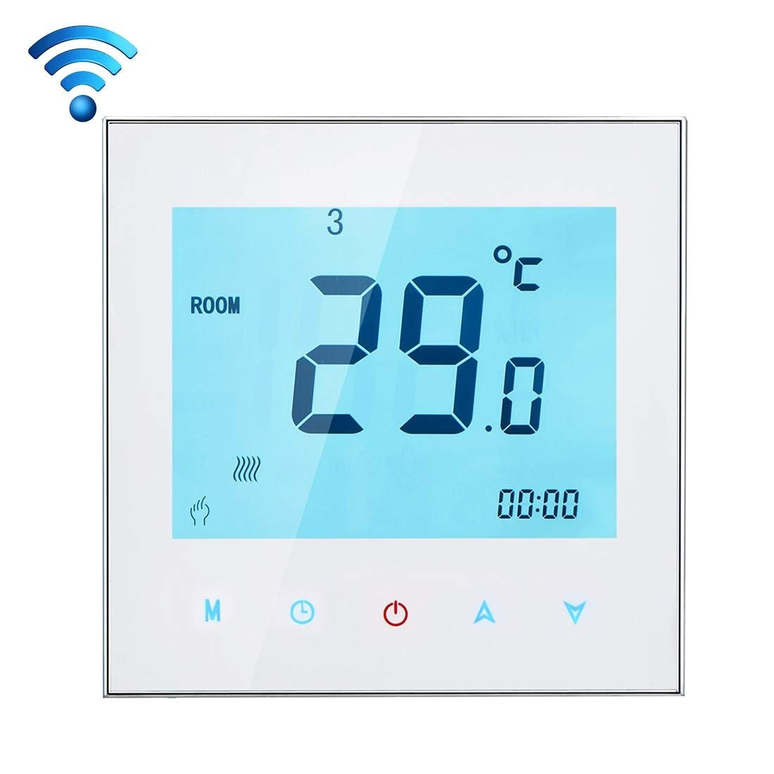 BuyBuyBuy Precision BHT-1000-GA-WIFI 3A Multifunction Load Water Heating Type Touch LCD Digital WiFi Heating Room Thermostat, Display Clock/Temperature/Periods/Time/Week/Heat etc. Standard