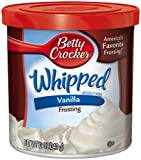Betty Crocker Whipped Frosting, Vanilla, 12-Ounce Containers (Pack of 8)