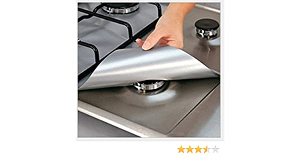 Amazon.com: Lingstar Reusable Silver Gas Range Protector Liner Non Stick Gas Hob Stovetop Protectors: Clothing