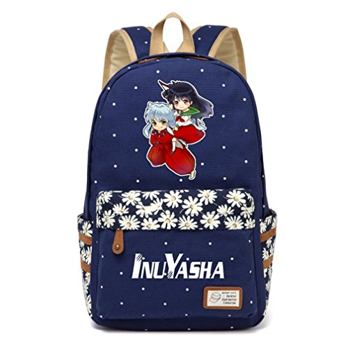 (YOYOSHome Anime Inuyasha Cosplay Daypack Bookbag Backpack School Bag (Dark Blue)