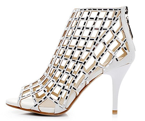 jiandick Womens Rhinestone Ankle Bootie Prom Heeled Sandals Evening Dress Stiletto High Heel White buy cheap original buy cheap 2014 unisex 2014 newest sale online new arrival for sale oA9zrb