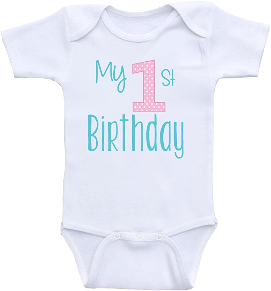 Heart Co Designs First Birthday Baby Clothes My 1st Birthday Onesies for Babies