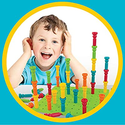 Lauri Deluxe Tall-Stackers - Pegs & Pegboard Set: Toys & Games