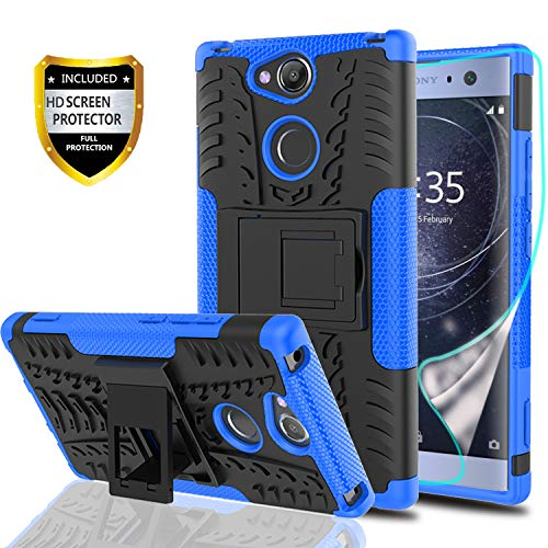 5b384ec0124385 YmhxcY Xperia XA2 Ultra Phone Case with HD Screen Protector,Military Armor  Drop Tested [Heavy Duty] Hybrid Case with Kickstand for Sony Xperia  H4213/H4233 ...