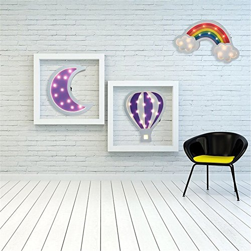 Rainbow Marquee Sign Led Night Light Takefuns Battery Operated Wall Light Decorative Bedsides Lamp for Girls Boys Christmas Home Decor(Rainbow) by Takefuns (Image #4)