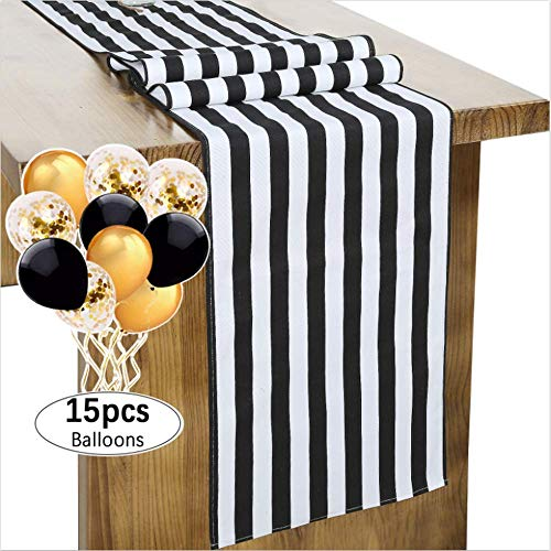 (SoarDream Classic Striped Table Runner 13