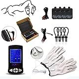 SYYAN Electro Shock Glove Massage Penis Rings Stimulate Medical Themed Toys Kit Electro Shock Massage Pad Sex Toys