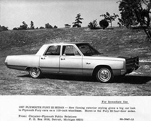 1967 Plymouth Fury III Sedan Automobile Photo Poster