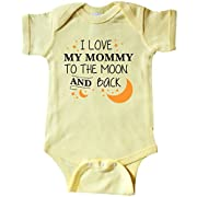 inktastic - I Love My Mommy to The Moon Infant Creeper 6 Months Banana Yellow