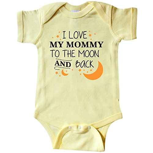 inktastic I Love My Mommy to The Moon and Infant Creeper 6 Months Banana Yellow