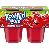 jello snack packs - JELL-O Kool-Aid Cherry Gels Gelatin, 14 oz Cup (Pack of 6)