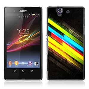 Designer Depo Hard Protection Case for Sony Xperia Z L36H / Cool Colors