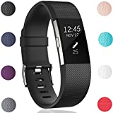 GEAK Replacement Bands for Fitbit Charge 2, Fitbit Charge2 Wristbands,Large,Black