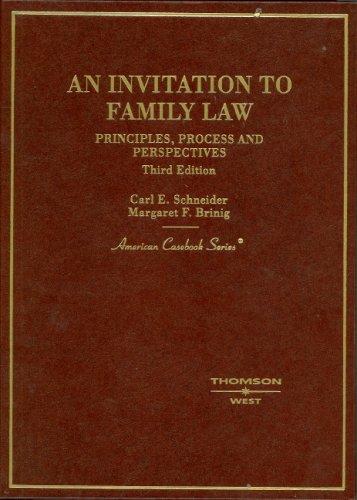 Invitation to Family Law (American Casebook Series)