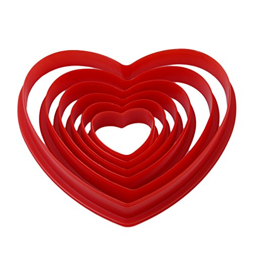 SOURBAN 6PCs Heart Shaped Cookie Cutter Set