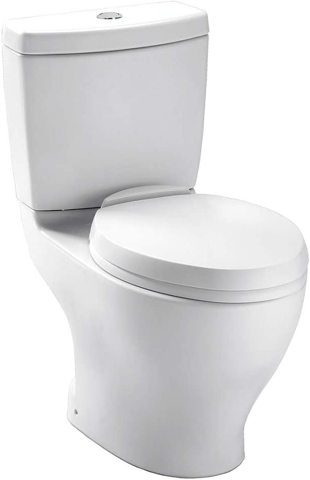 TOTO CST412MF.10#01 Aquia Dual Flush Toilet with 10-Inch Rough-In