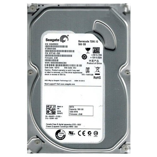 SEAGATE ST3500413AS Barracuda 7200.12 500GB 7200 RPM 16MB cache SATA 6.0Gb/s 3.5