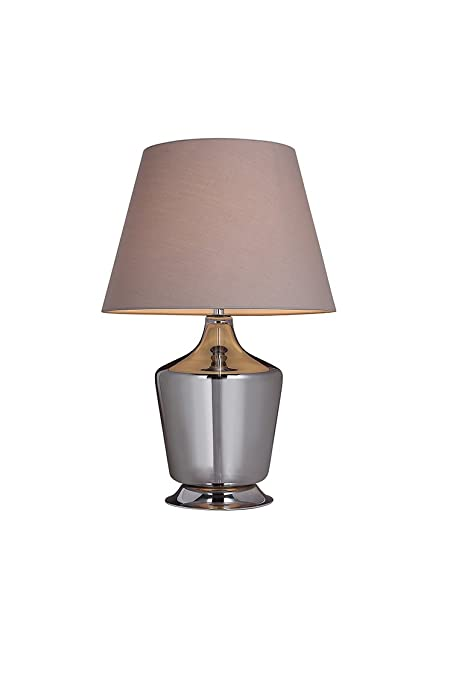 Lámpara de mesa estilo barroco de cristal gris - Venecia ...
