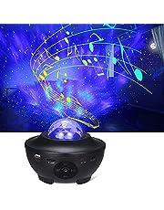 Tomshine Roterande stjärnljusprojektor hav våg nattlampor musik stjärnig galaxprojektor LED nebula med timer och fjärrkontroll, för gåvor barn vuxna rum dekoration